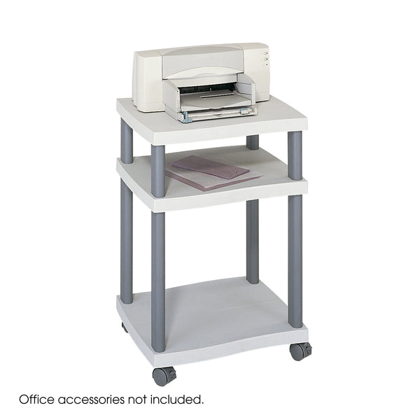 Wave Desk Side Printer Stand, Gray