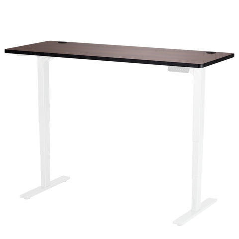 "Safco Electric Height-Adjustable Table, Tabletop, 60 x 24"", Cherry"