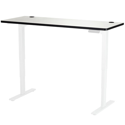"Safco Electric Height-Adjustable Table, Tabletop, 60 x 24"", Gray"