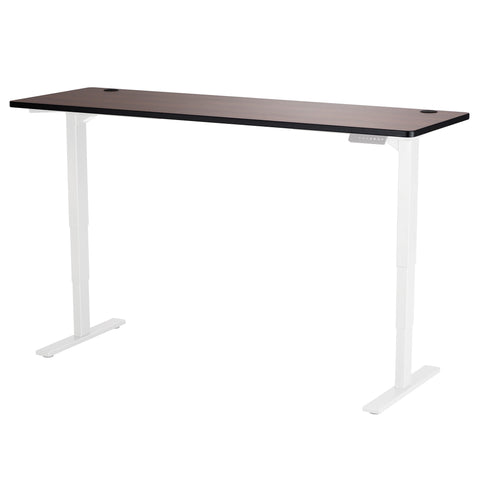 "Safco Electric Height-Adjustable Table, Tabletop, 72 x 24"", Cherry"