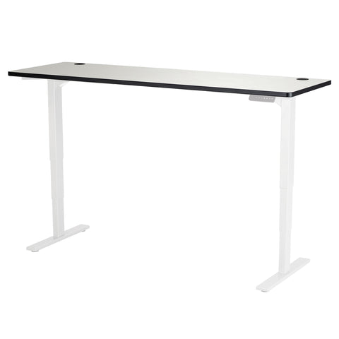 "Safco Electric Height-Adjustable Table, Tabletop, 72 x 24"", Gray"