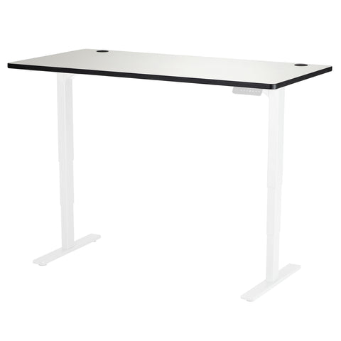 "Safco Electric Height-Adjustable Table, Tabletop, 60 x 30"", Gray"
