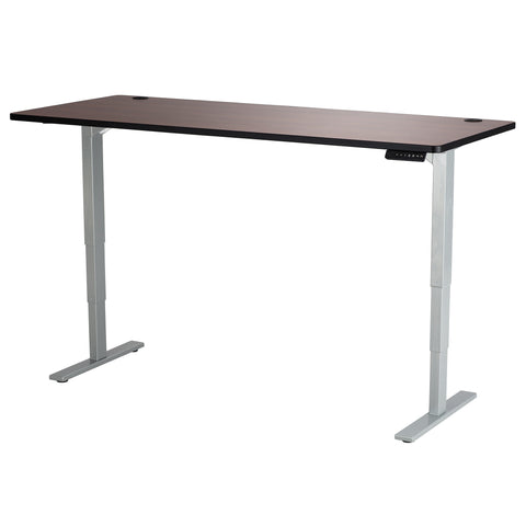 "Safco Electric Height-Adjustable Table, Tabletop, 72 x 30"", Cherry"