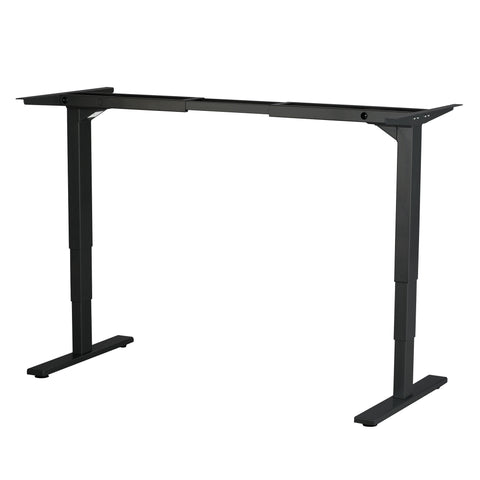 Safco Electric Height-Adjustable Table, Base, Black
