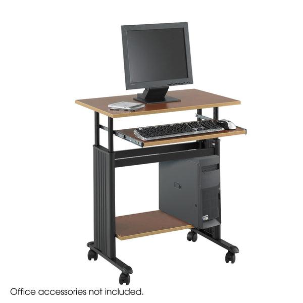 "Muv™ Adjustable-Height Desk, 28"", Cherry"