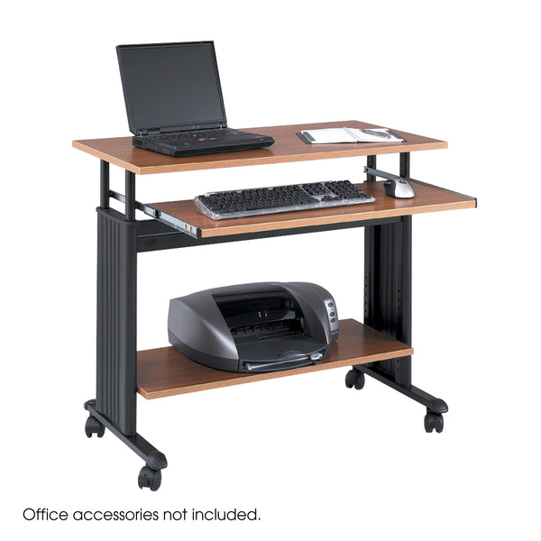 "Muv™ Adjustable-Height Desk, 35"", Medium Oak"