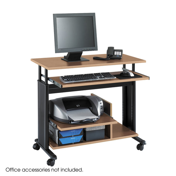 Muv™ Mini Tower Desk, Medium Oak