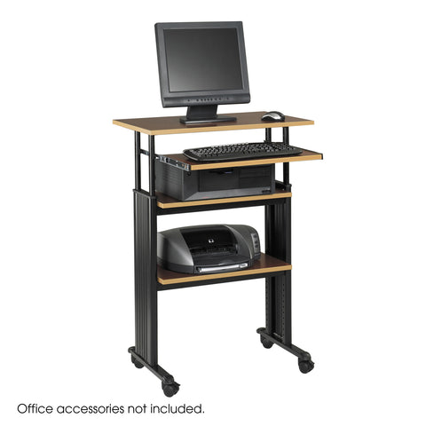 Muv™ Stand-Up Adjustable-Height Desk, Cherry