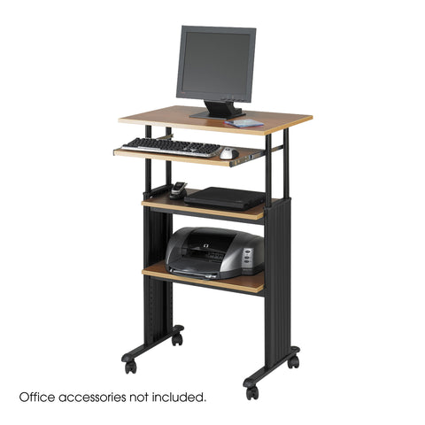 Muv™ Stand-Up Adjustable-Height Desk, Medium Oak