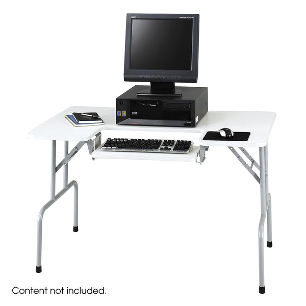 Computer Table, Folding, Gray