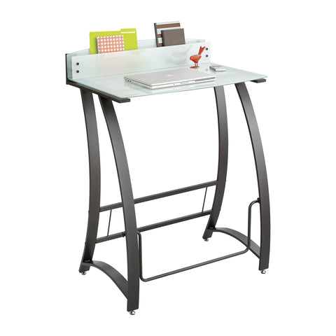 Xpressions™ Stand-Up Desk, patented Swinging Pendulum™ Bar, Tempered Glass