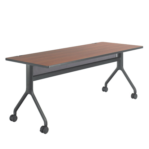 "Rumba™ Table, Rectangle, 72 x 30"", Cherry Tabletop & Black Base"