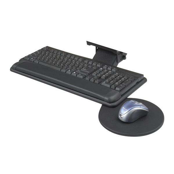 Adjustable Keyboard Platform with Swivel Mouse Tray, Black