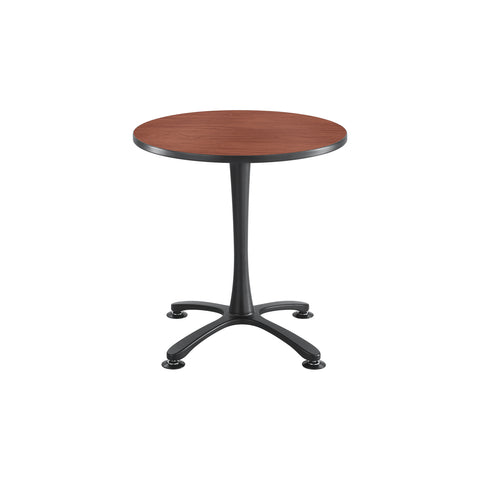 "Cha-Cha™ Tables, Sitting-Height, X Base, 30"" Round, Cherry Tabletop & Black Base"
