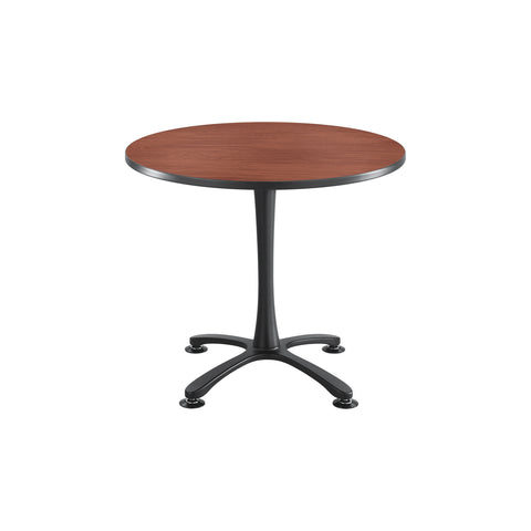 "Cha-Cha™ Tables, Sitting-Height, X Base, 36"" Round, Cherry Tabletop & Black Base"