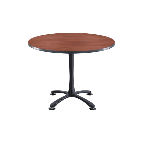 "Cha-Cha™ Tables, Sitting-Height, X Base, 42"" Round, Cherry Tabletop & Black Base"
