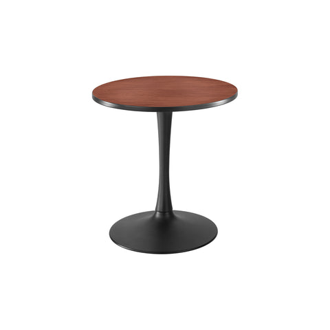 "Cha-Cha™ Tables,  Sitting-Height, Trumpet Base, 30"" Round, Cherry Tabletop & Black Base"