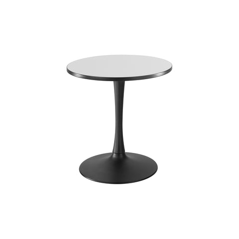 "Cha-Cha™ Tables, Sitting-Height, Trumpet Base, 30"" Round, Gray Tabletop & Black Base"