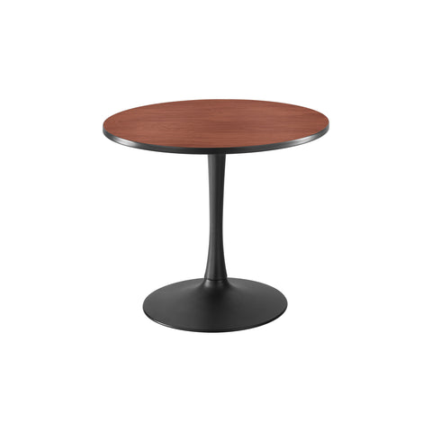 "Cha-Cha™ Tables, Sitting-Height, Trumpet Base, 36"" Round, Cherry Tabletop & Black Base"