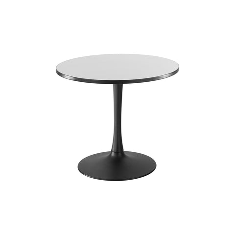 "Cha-Cha™ Tables, Sitting-Height, Trumpet Base, 36"" Round, Gray Tabletop & Black Base"
