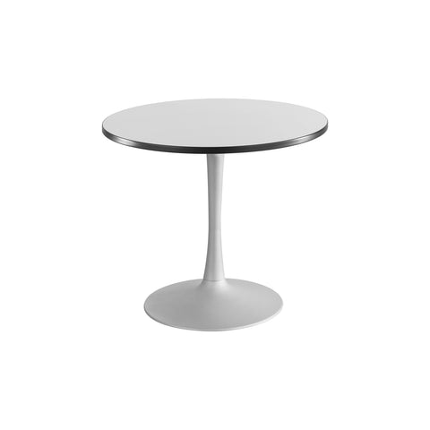 "Cha-Cha™ Tables, Sitting-Height, Trumpet Base, 36"" Round, Gray Tabletop & Metallic Gray Base"