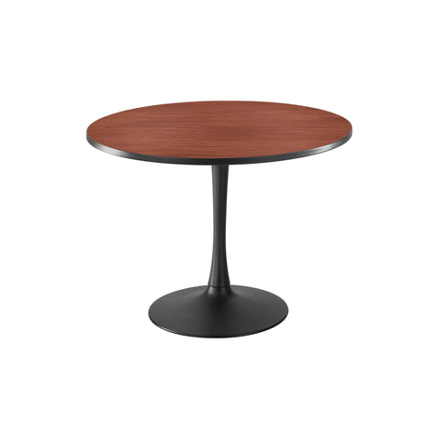 "Cha-Cha™ Tables, Sitting-Height, Trumpet Base, 42"" Round, Cherry Tabletop & Black Base"
