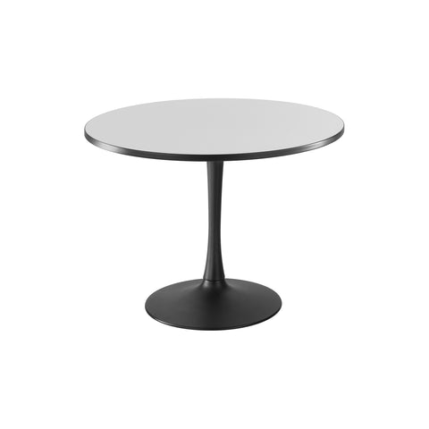 "Cha-Cha™ Tables, Sitting-Height, Trumpet Base, 42"" Round, Gray Tabletop & Black Base"
