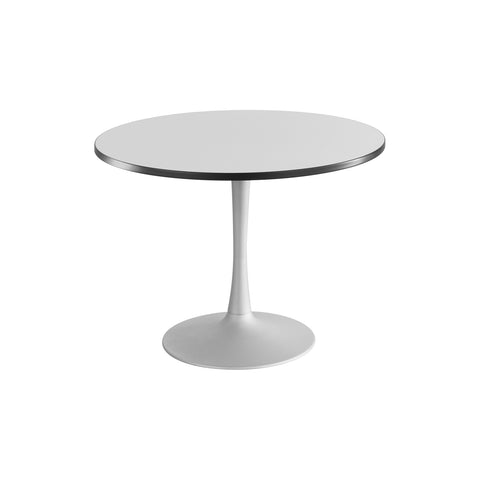 "Cha-Cha™ Tables, Sitting-Height, Trumpet Base, 42"" Round, Gray Tabletop & Metallic Gray Base"