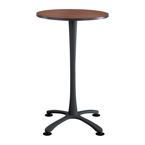 "Cha-Cha™ Tables, Bistro-Height, X Base, 30"" Round, Cherry Tabletop & Black Base"