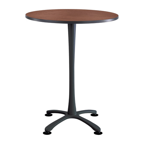 "Cha-Cha™ Tables, Bistro-height, X Base, 36"" Round, Cherry Tabletop & Black Base"