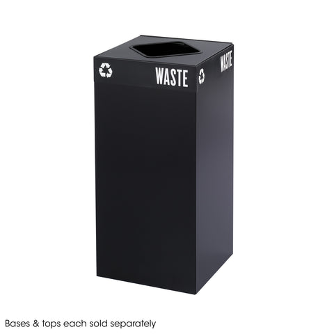 Public Square® Recycling Trash Can, Base,  31 Gallon, Black