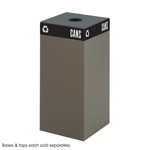 Public Square® Recycling Trash Can, Base, 31 Gallon, Brown
