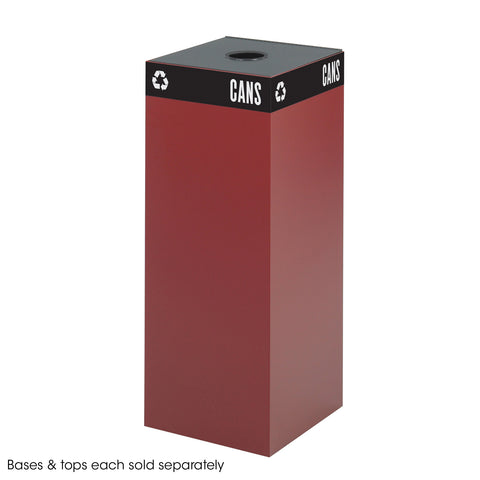 Public Square® Recycling Trash Can, Base, 37 Gallon, Burgundy