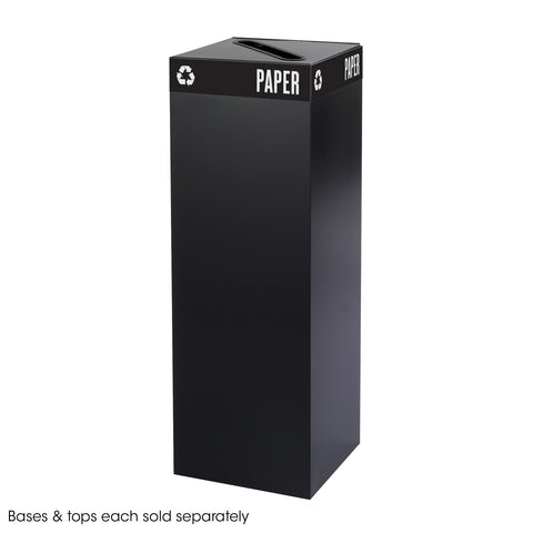 Public Square® Recycling Trash Can, Base, 42 Gallon, Black