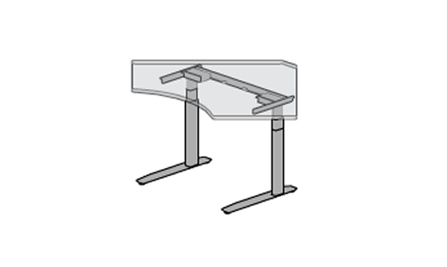 SiS SX2 Electric Height Adjustable Desk - 2 legs  90° Corner (Enhanced Control Switch)