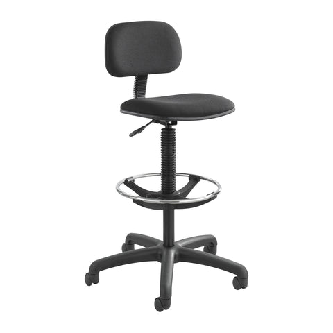 Safco® Economy Extended-Height Chair, Black