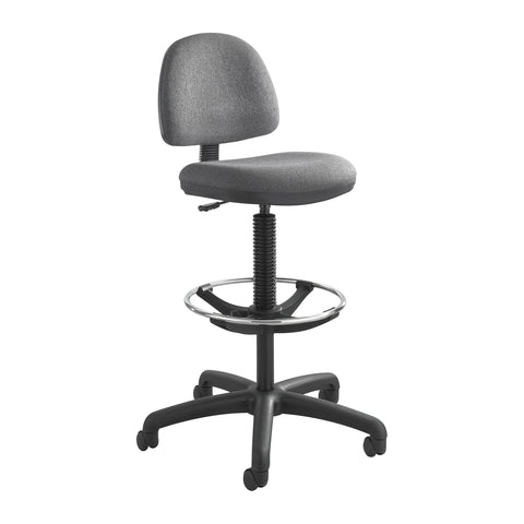 Precision Extended-Height Chair, Footring, Gray