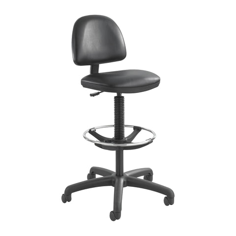 Precision Extended-Height Chair, Footring, Black Vinyl