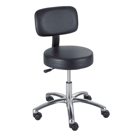 Safco® Lab Stool with Back, Black
