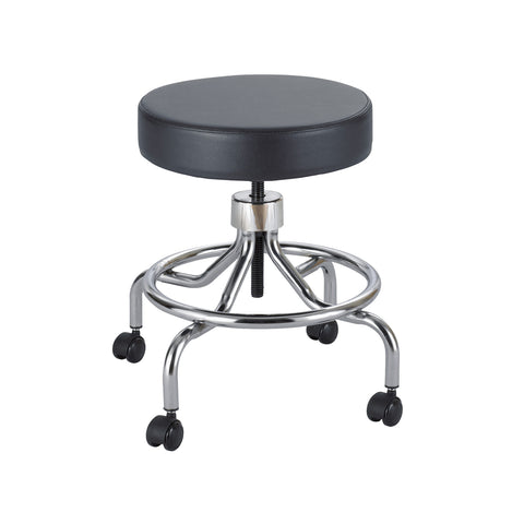 Safco® Lab Stool, Low Base, Screw Lift, Black