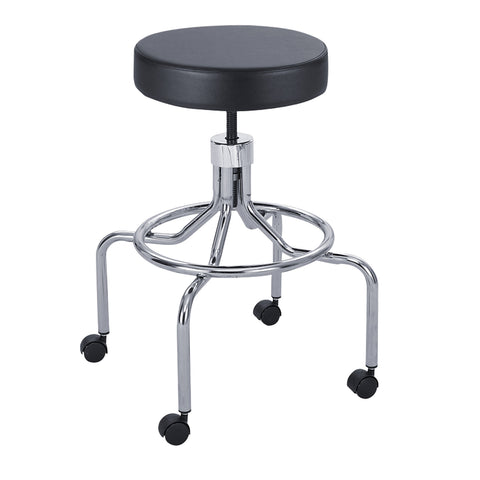 Safco® Lab Stool, High Base, Screw Lift, Black