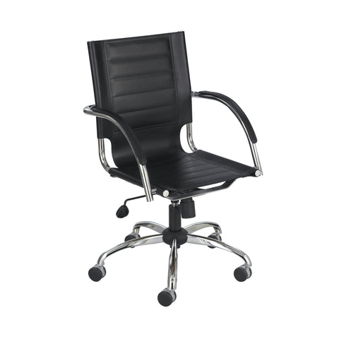 Flaunt™ Managers Chair, Black Leather