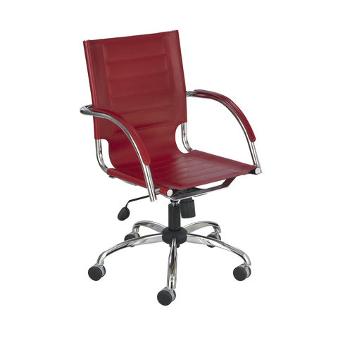 Flaunt™ Managers Chair, Red Leather