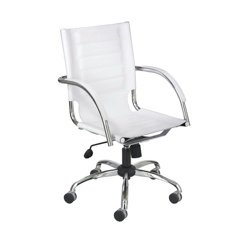 Flaunt™ Managers Chair, White Leather