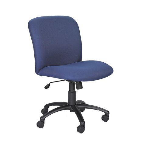 Uber™ Big & Tall Task Chair, Mid Back, Blue