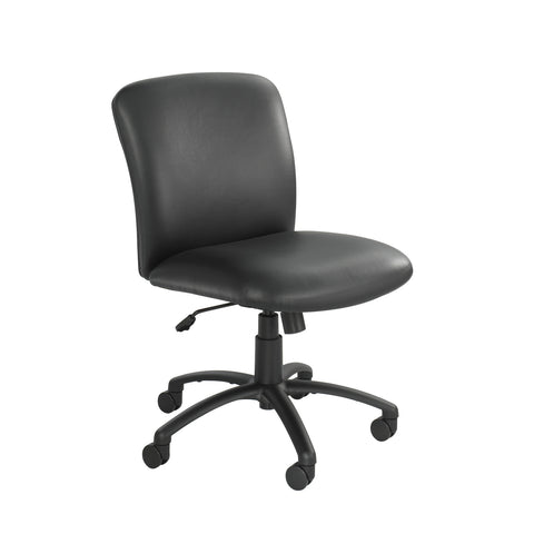 Uber™ Big & Tall Task Chair, Mid Back, Black Vinyl