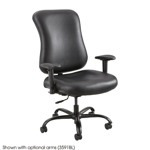 Optimus™ Big & Tall Chair, 400 lb. Capacity, Black Vinyl