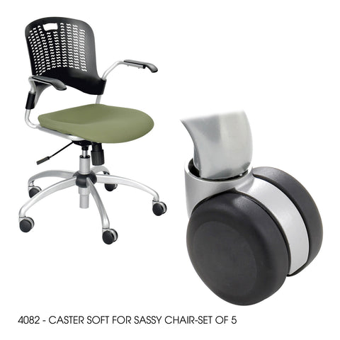 Sassy® Chair, Soft Caster, (Set of 5)