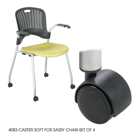 Sassy® Chair, Soft Caster, (Set of 4)