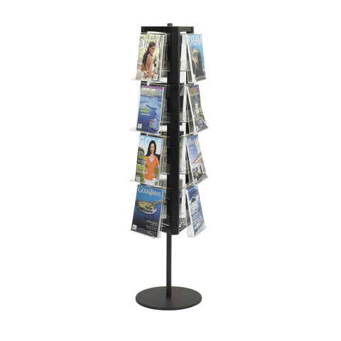 In-View™ Rotary Literature Display, 12 Pocket, Black